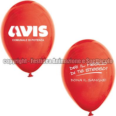 palloncini personalizzati Avis Potenza