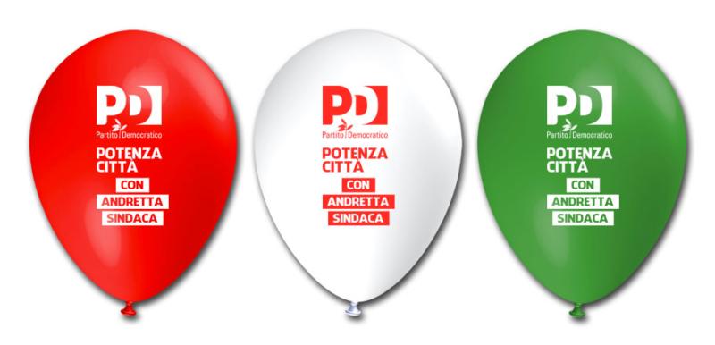 palloncini partito democratico potenza