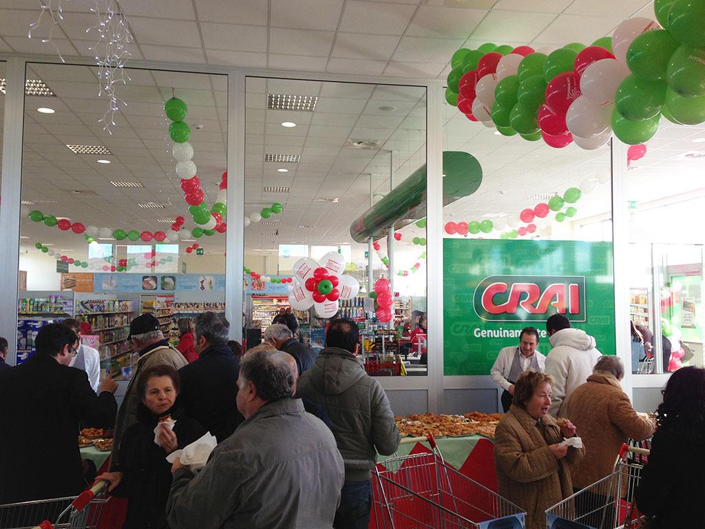 addobbi di palloncini supermercato