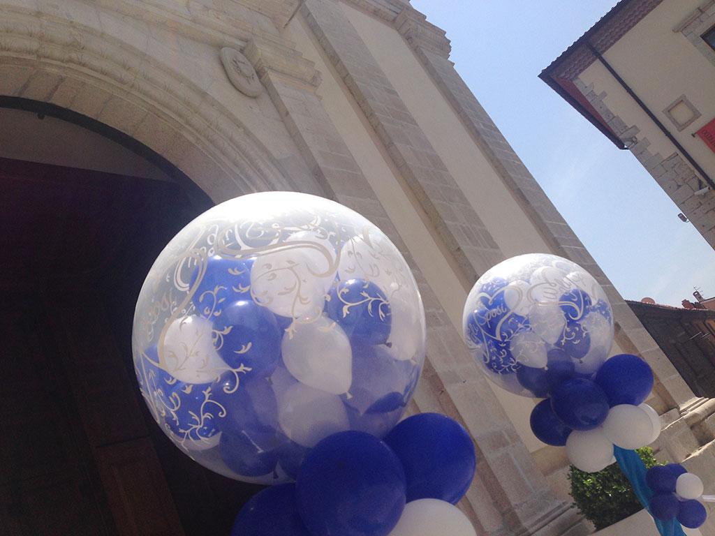particolare mongolfiere palloncini